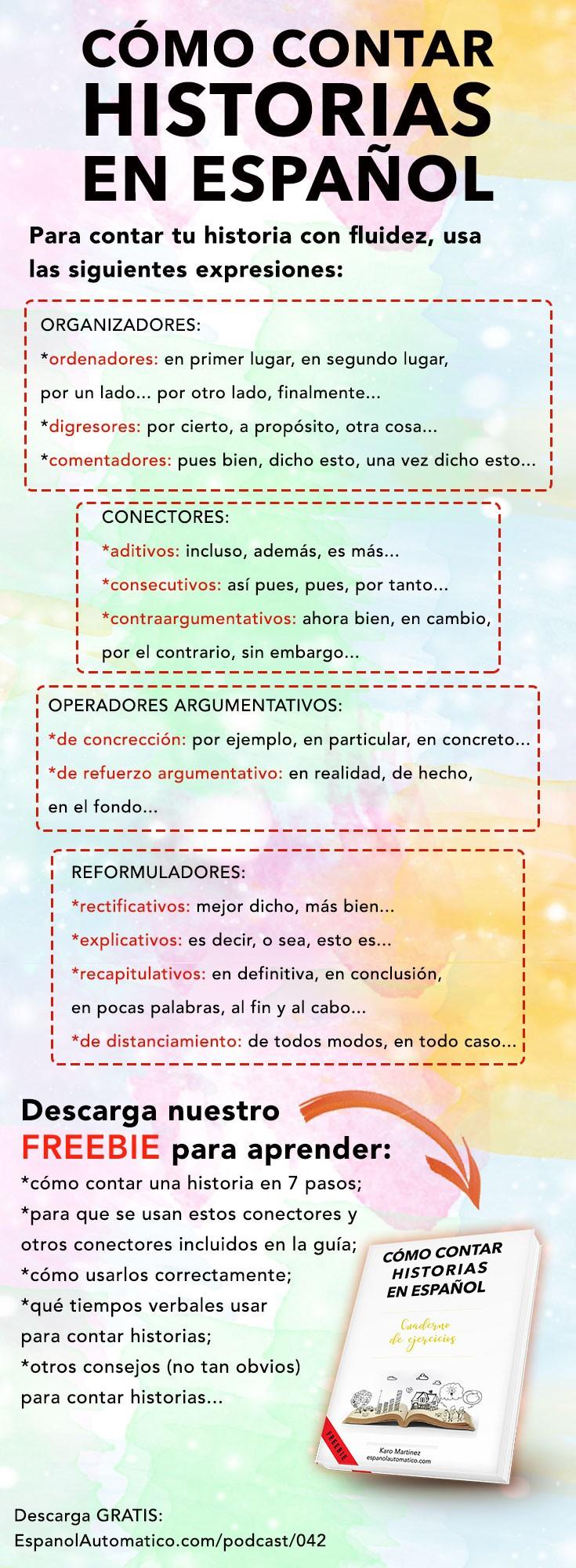 como contar historias en español