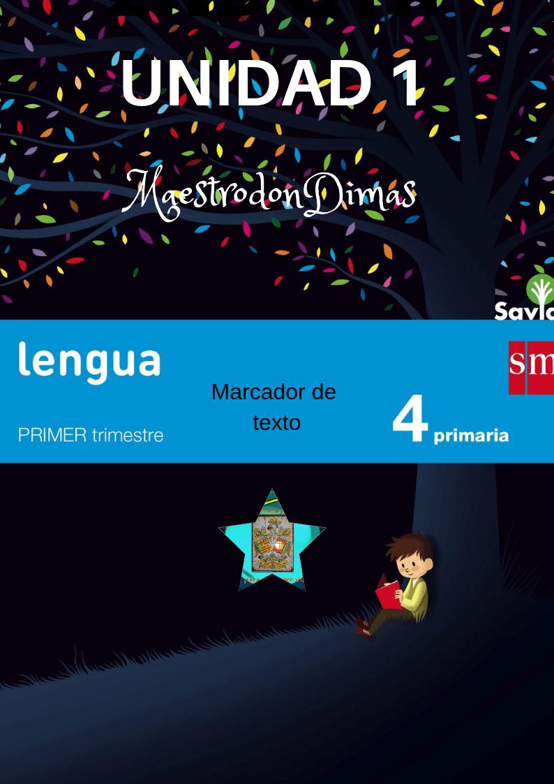LENGUA ESPAÑOLA 4º PRIMARIA SM. UNIDAD 1