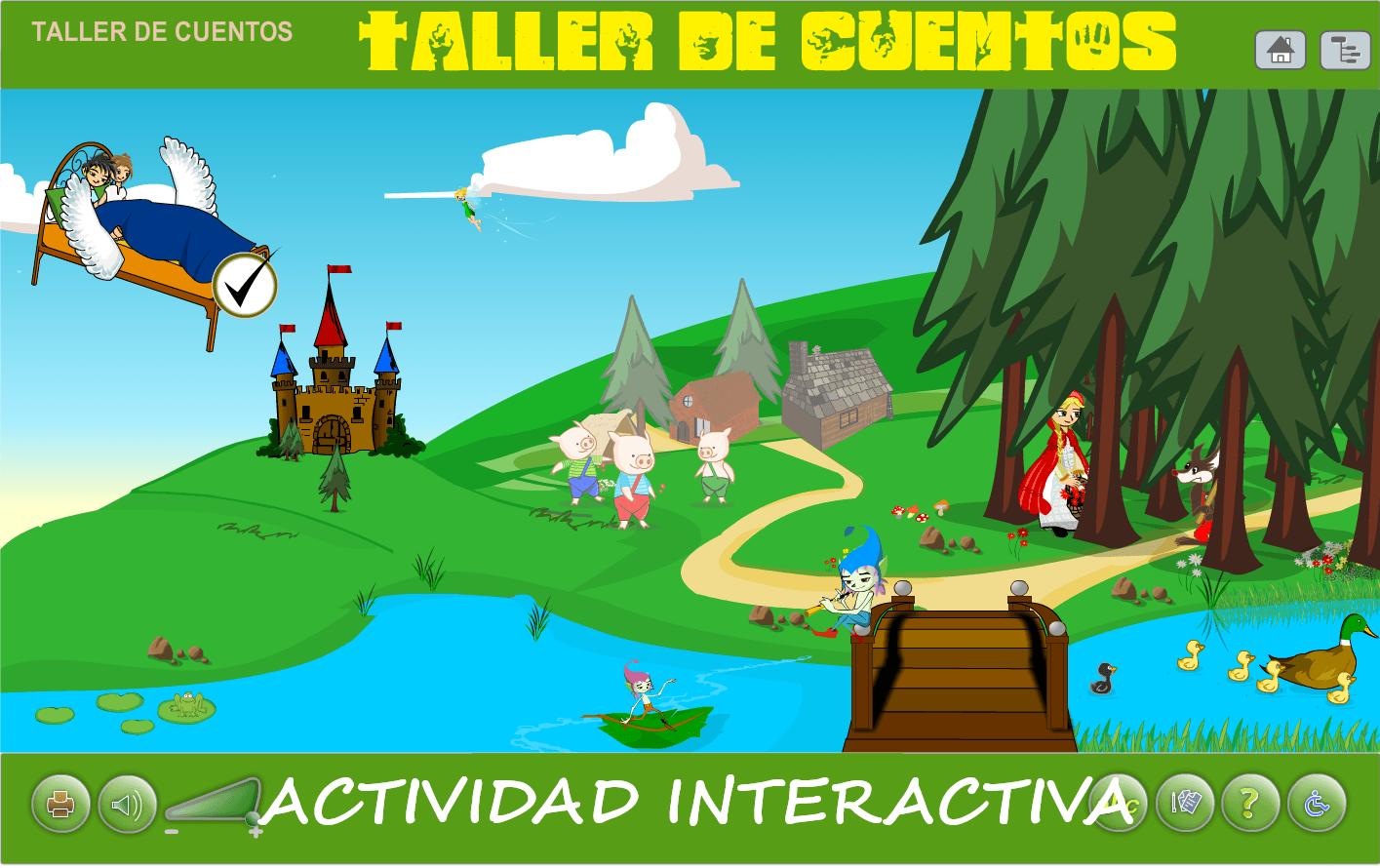 TALLER DE CUENTOS. ACTIVIDAD INTERACTIVA ONLINE