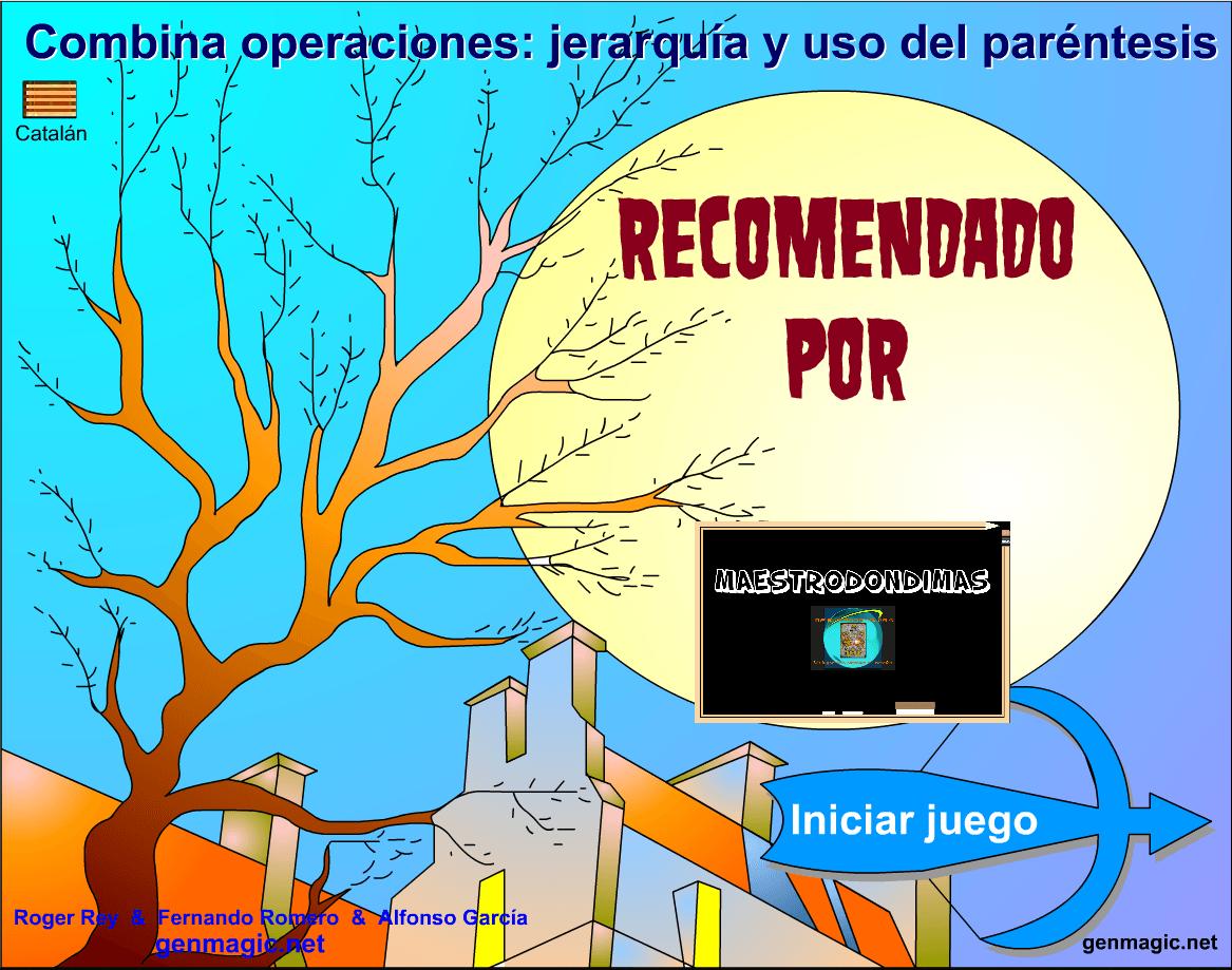 JUEGO: JERARQUÍA DE OPERACIONES COMBINADAS