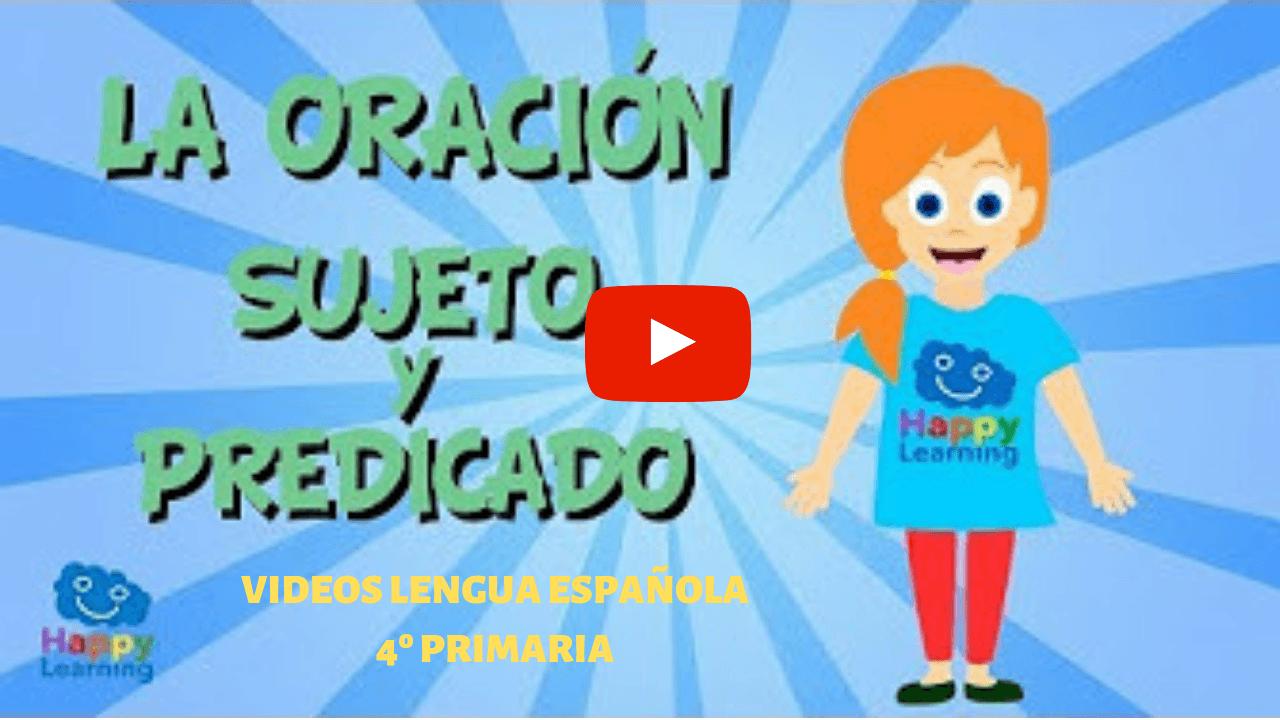 LENGUA ESPAÑOLA 4º PRIMARIA. VIDEOS